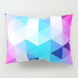 Abstract Triangle Colorful Pillow Sham