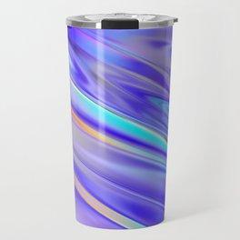 Chrome cool pattern blue purple silver Travel Mug