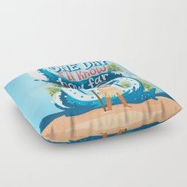 The ocean chose me Floor Pillow