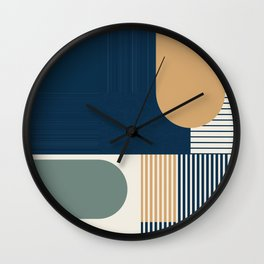 Cool Color Pallette Pattern Wall Clock