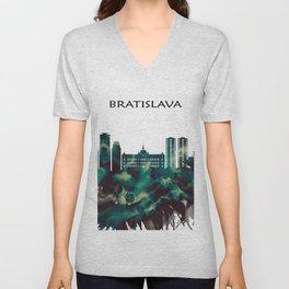Bratislava Skyline Unisex V-Neck