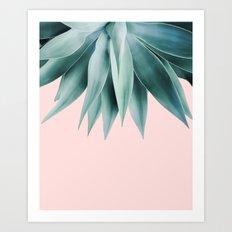 Agave fringe - blush Art Print