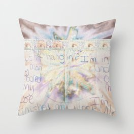 passing notes in class Throw Pillow