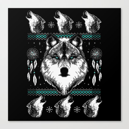 Merry Wolfmas Canvas Print
