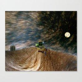 catscape 3: Nocturnal Hair Farming  Canvas Print