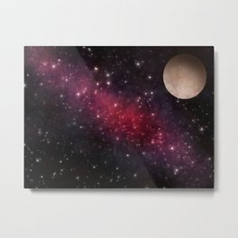 Out In Space Metal Print