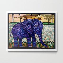 mosaic elephant Metal Print