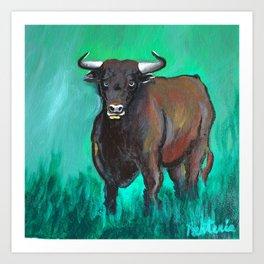 Bull Confidence Art Print