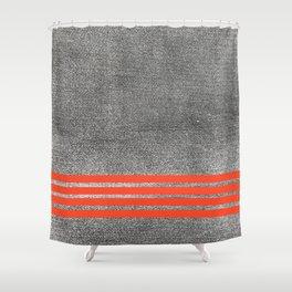 black denim and stripes Shower Curtain