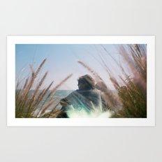Surf Check on Film Art Print