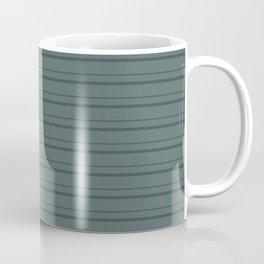 Night Watch PPG1145-7 Horizontal Stripes Pattern 3 on Juniper Berry Green PPG1145-6 Coffee Mug