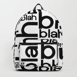 Blah Blah Blah Typography Backpack