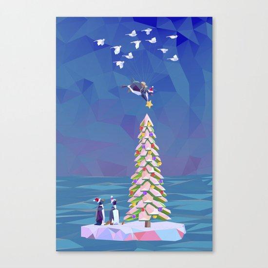 Christmas Flight Canvas Print