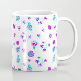 ditsy flowers inspired by Persian tile/ ditsy flowers for fashion print Coffee Mug
