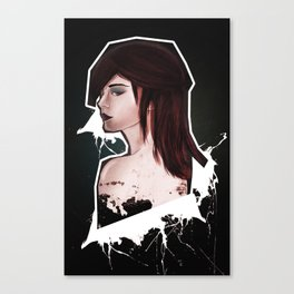 The girl with the rad hair Canvas Print