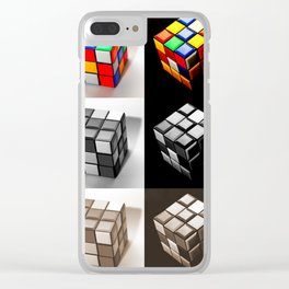 Rubiks Cube Clear iPhone Case