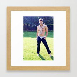 Oxford boy Framed Art Print