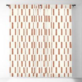 block print dash - terra cotta Blackout Curtain