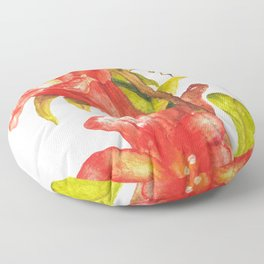 Red Lily Floor Pillow