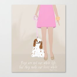 City Dogs: Elizabeth Canvas Print