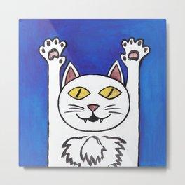 hurray cat Metal Print