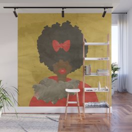RED BOWS AND FAUX FUR Wall Mural