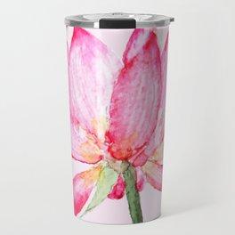pink lotus flower Travel Mug