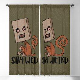 Stay Weird Sack Monkey Blackout Curtain