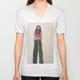 My yoga with Danica line  leggings and hoodies  Unisex V-Neck