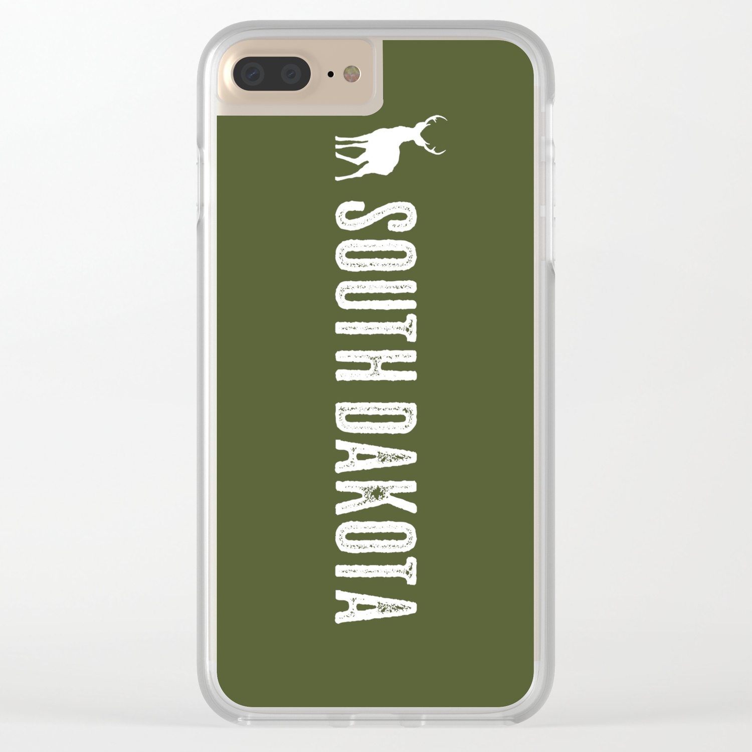 Deer: South Dakota Clear iPhone Case