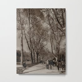 "Gardens to the NE of Sultan Ahmed Mosque (""Blue Mosque"", Istanbul, TURKEY) Metal Print"
