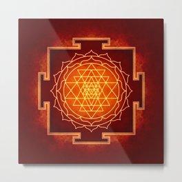 Sri Yantra VIII Metal Print