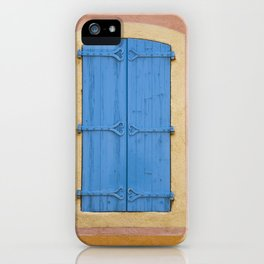Blue window shutters iPhone Case