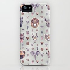 African Mammals Poster and Pattern iPhone SE Slim Case