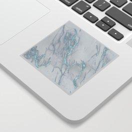 Marble Love Electric Blue Metallic Sticker
