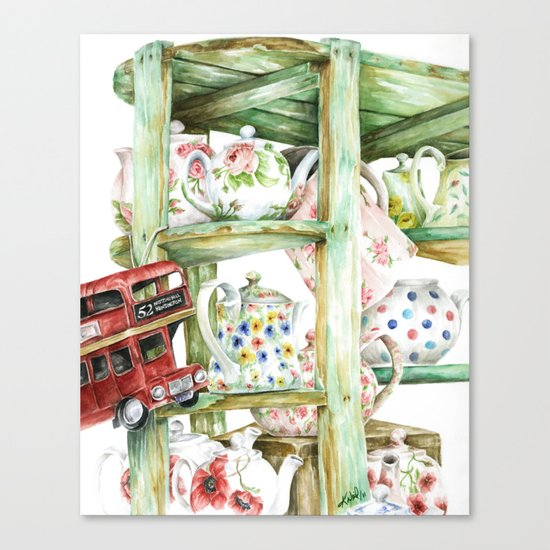 Alice's Teapots Canvas Print