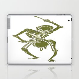 A Zombie Undead Skeleton Marching and Beating A Drum Laptop & iPad Skin