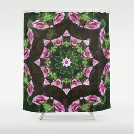 Rosas Moradas 2 Kaleidoscope 10 Shower Curtain