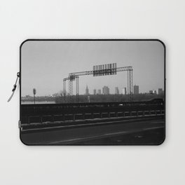 riverside cityscape, city skyline, driving in warsaw view Laptop Sleeve