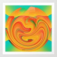 desert Art Prints featuring Desert by Casey