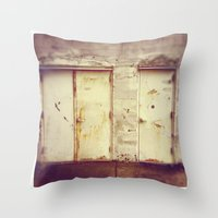 doors Throw Pillows featuring doors by sandra lee russell