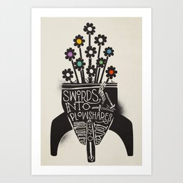 Swords Into Plowshares Art Print