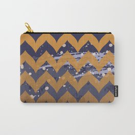 Chevron Abstract Panoramic Carry-All Pouch