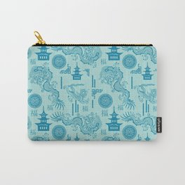 Blue Dragon Chinoiserie Carry-All Pouch