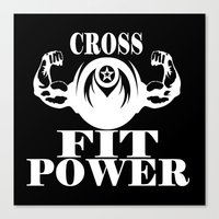 crossfit Canvas Prints featuring CROSSFIT POWER  by Robleedesigns