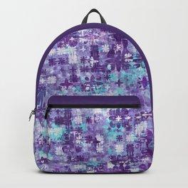 Purple Grime Foral Backpack