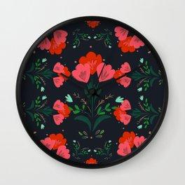 Ethnic Flowers Motif - 01 Wall Clock