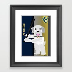 Hank the Dog is at the Plate  Framed Art Print