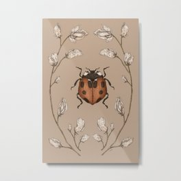 The Ladybug and Sweet Pea Metal Print