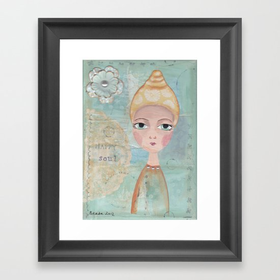 Happy soul Framed Art Print